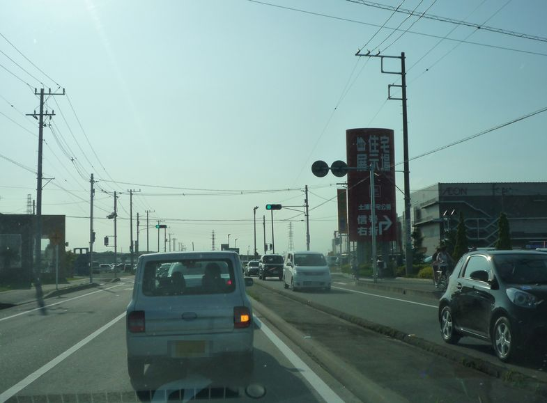 イオン土浦ショッピングセンター 野田線から向かってみる
