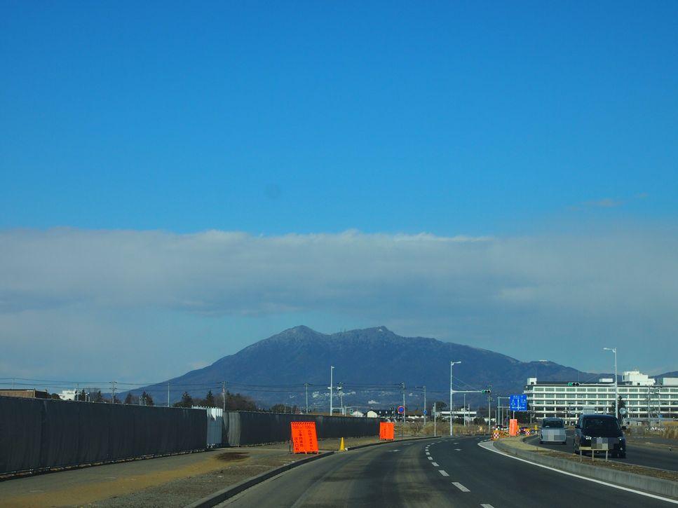 研究学園 筑波山が冠雪してますね