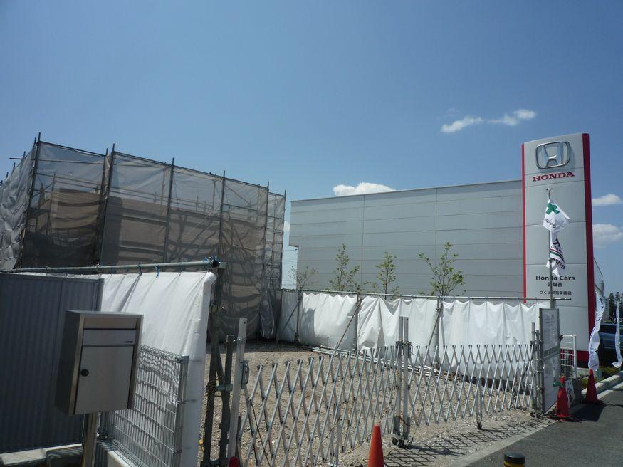 研究学園 新都市中央通りに何かの建設が始まっています その2