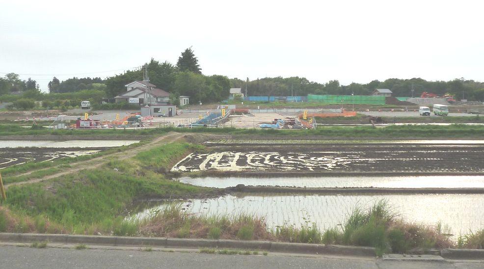 研究学園(つくば新都心) 葛城北線の東側 建設状況