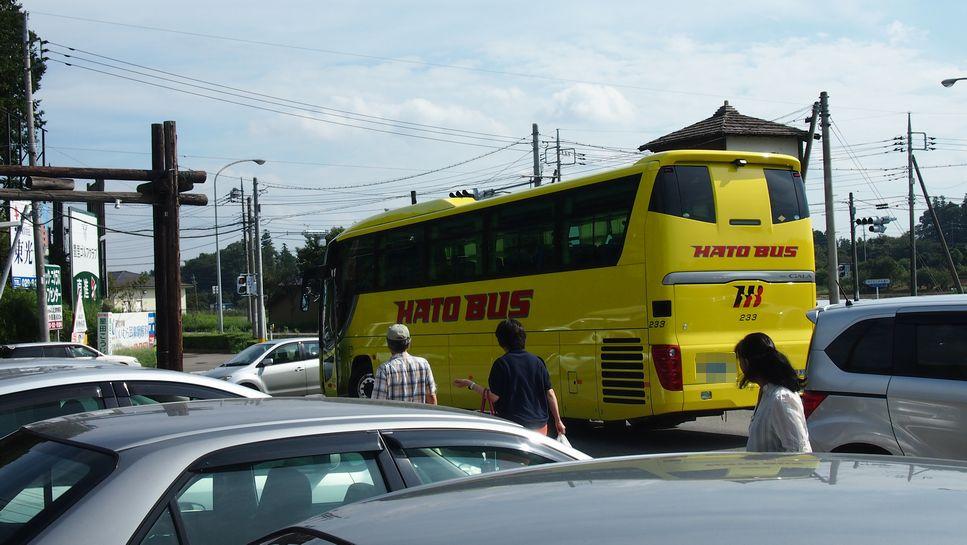 つくば みずほの村市場に ハトバスが!! しかも、横浜ナンバー