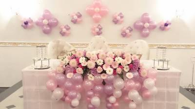wedding day♪. 今日は結婚式バルーン