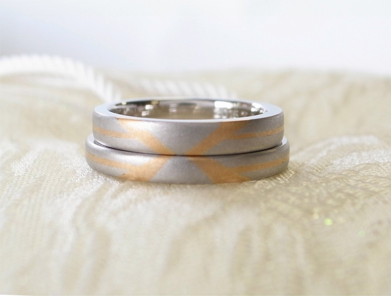 秘密の頭文字・イニシャルペアリング☆手作り結婚指輪