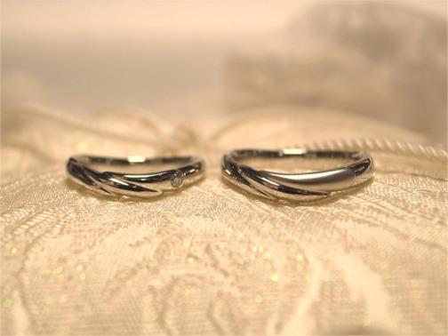 天使の羽が舞い降りるペアリング☆手作り結婚指輪