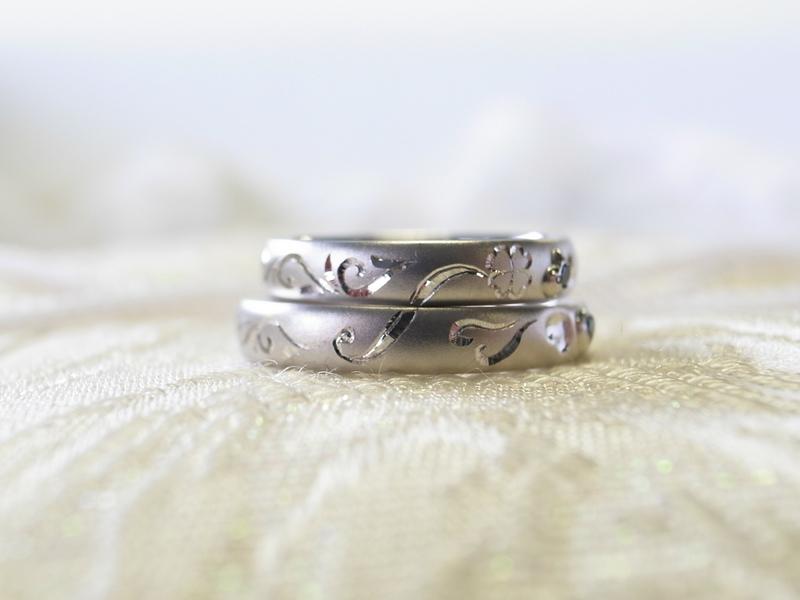 クローバーつながり☆手作り結婚指輪