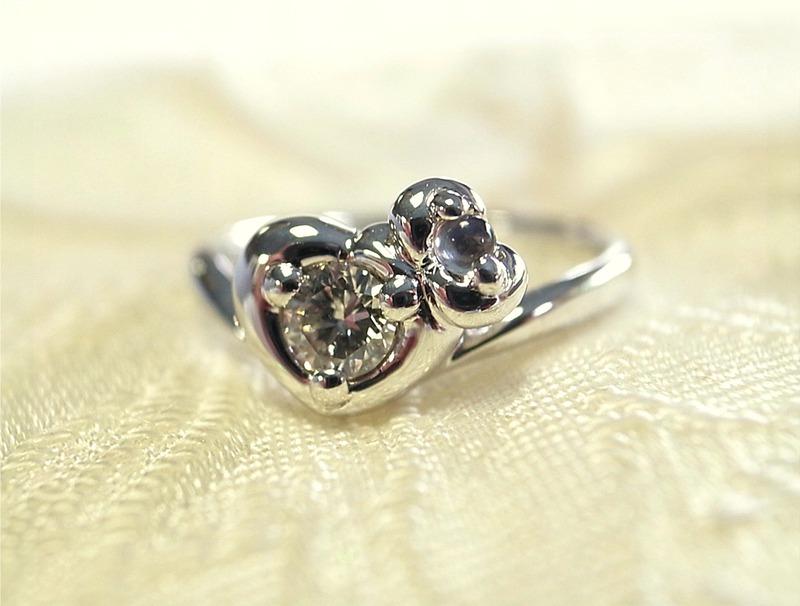 自分で作ったダイヤリングでプロポーズ!☆手作り結婚指輪