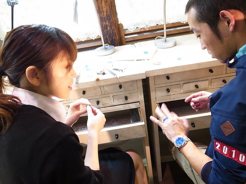 微笑みマークの手作り結婚指輪