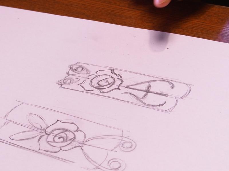 エヴァに薔薇の刻印を★手作り結婚指輪
