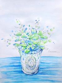 【ワークショップ】4/21(月)、4/28(月) ペン&水彩で描く 草花イラスト講座