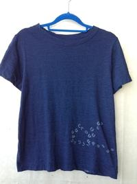 新品★45R インディゴ染めTシャツ