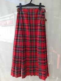 PINK HOUSE(ピンクハウス)タータンチェック巻きスカート