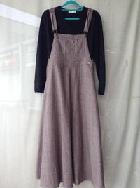 Spick & Span【MITTERNACHT】ツイードマキシジャンパースカート
