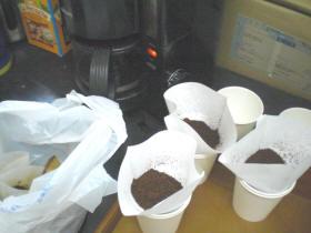 コーヒーの試飲