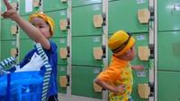 息子ちゃん3才からプールに通い始めました(*^▽^*)