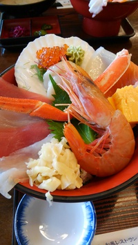 那珂湊魚市場通のヤマサ水産の和風レストラン♪
