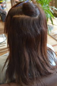 アイロンとかカラーとかしていて繊細な髪の毛の縮毛矯正