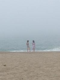 太平洋で海水浴