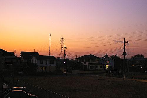 陽が短くなりました