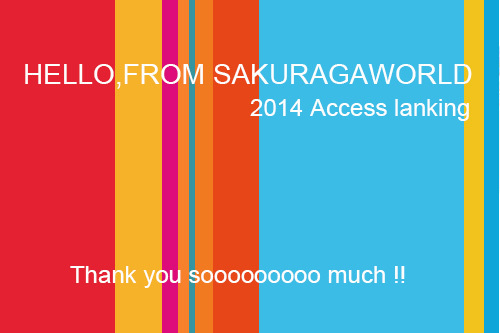 『さくらがわーるどからこんにちは』2014アクセスランキング