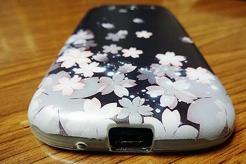 桜のスマホカバー