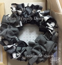 Fabric Wreath Dear