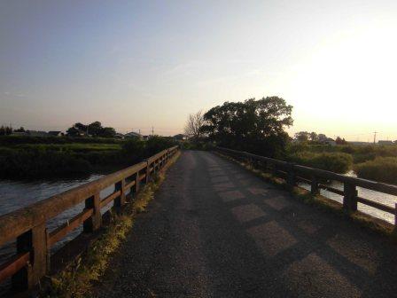つくば市のほぼ最西端 歴史のある橋 福雷橋!