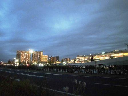 研究学園の夜景!