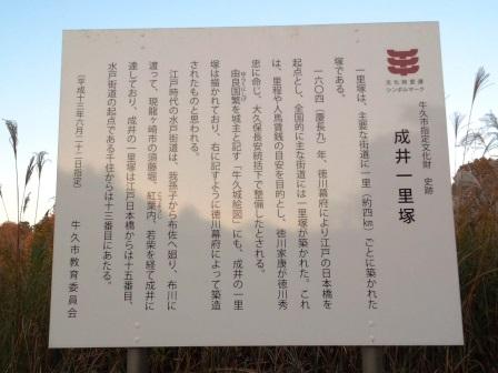 旧水戸街道の成井一里塚!