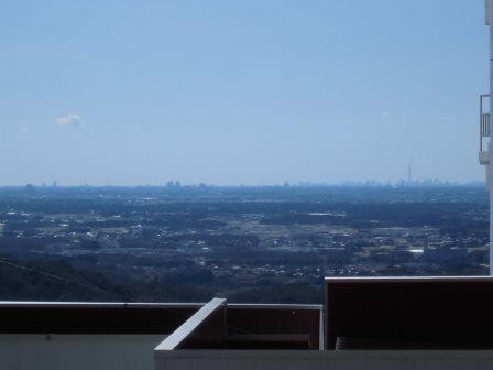 筑波山から見る東京スカイツリー!