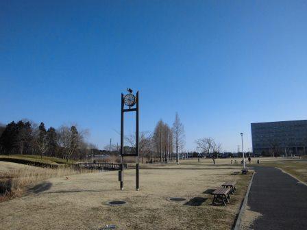 冬の駅前公園を歩く!