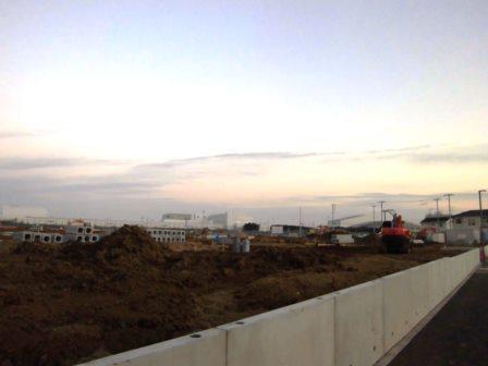 学園南でウッドユータウン研究学園葛城の開発が始まっています!