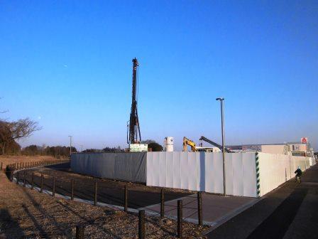 学園の森A46街区1画地にアウディつくば建設中!