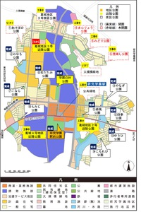 研究学園の公園計画(2014年5月29日現在)
