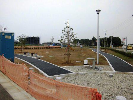 葛城北線沿いに建設中の街区公園の名前が決まっていました!