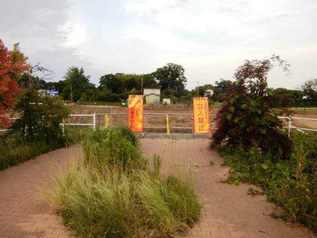 葛城川調節池の中を抜ける歩道が建設中!