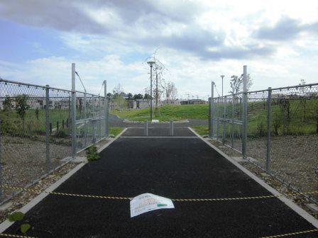 山新近くの葛城地区4号近隣公園の工事が完了!