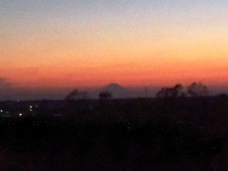 夕焼けと富士山!