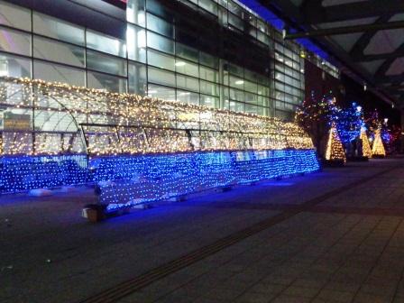 研究学園駅のイルミネーション!