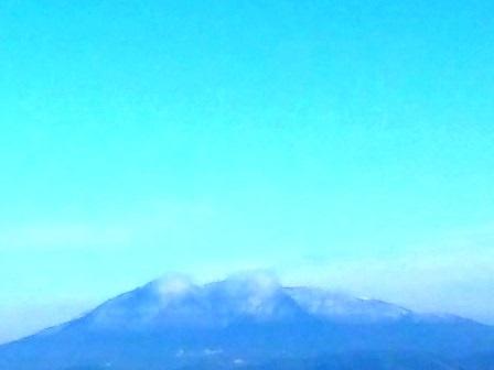 筑波山が白くなっている!