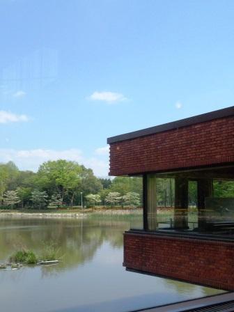 洞峰公園「ひだまりcafe」で池をぼーっと眺めながら昼食を!