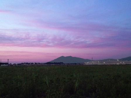 夕暮れの筑波山!