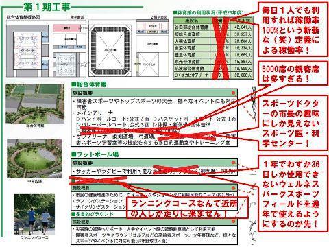 【総合運動公園】5分でわかる基本計画の問題点!
