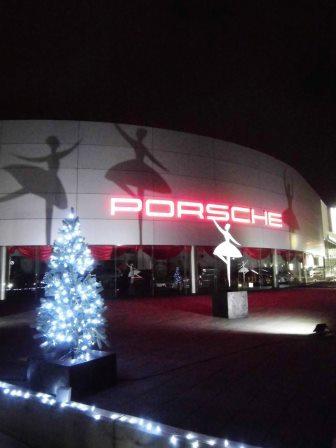 ポルシェセンターつくばのクリスマスイルミネーション!