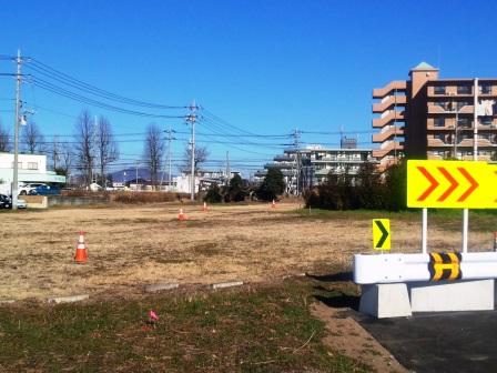 葛城北線と西大通りを古内交差点で接続する工事が始まった!