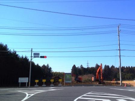 新都市中央通りの面野井台交差点で伐採工事が始まった!