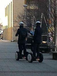 モビリティロボットが走っているところを初めて見た!