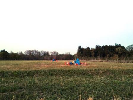 学園の森で日本郵政が地質調査をやっていた!