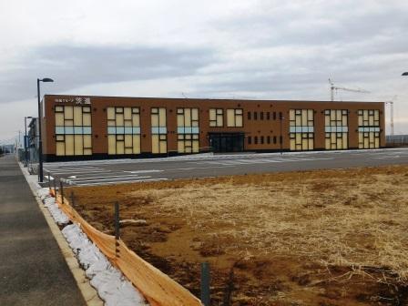 葛城北部学園そばに建設中の茨進の校舎が完成!