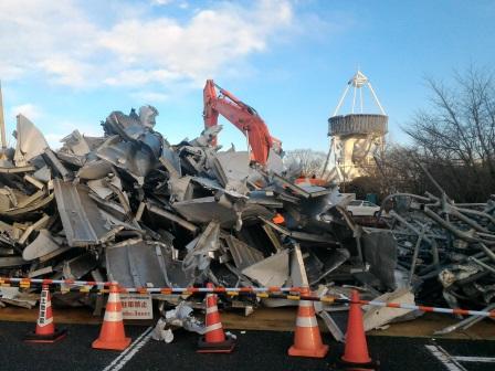 国土地理院のVLBIアンテナの解体が随分早く進んでいる!
