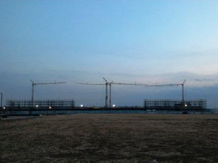 (仮称)葛城北部学園の建設工事が進んでいる!